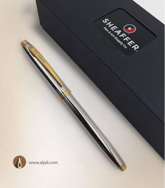 قلم جيب شيفر كروم بريشة ذهبية